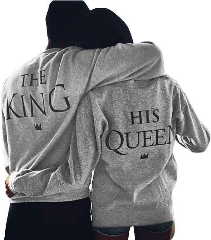 Fulltime® Amant de la Reine King Imprimer Lettre T shirt