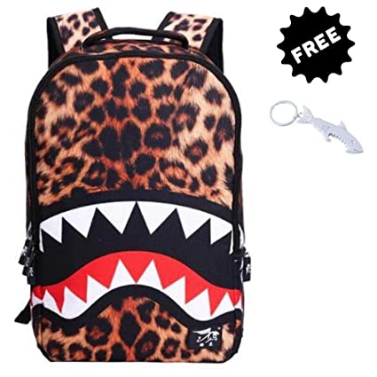 ManalCorp Shark Leopard Tiger Backpack bag