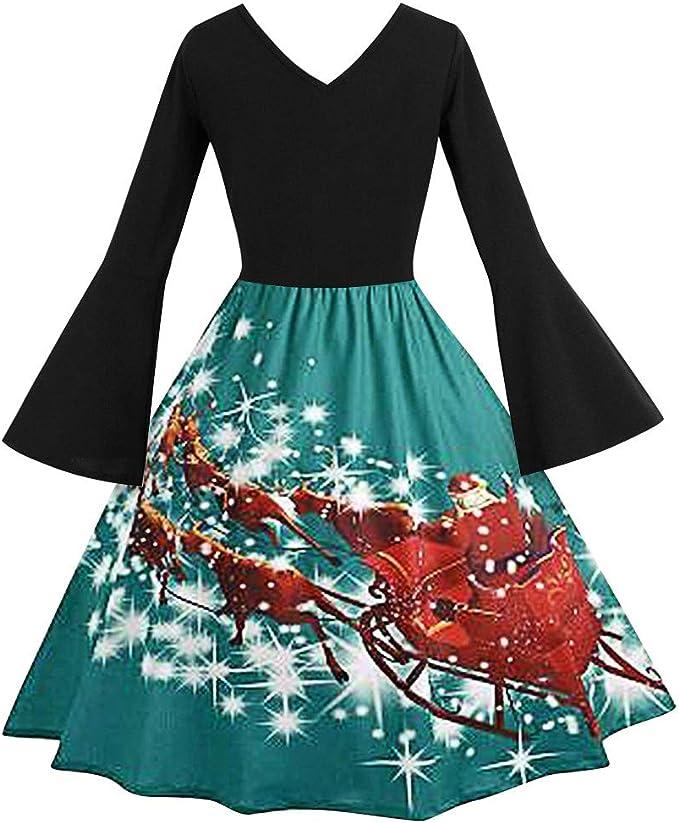 Feytuo Weihnachten Sale 9 Neu Kleid Für Damen Elegant Kurz