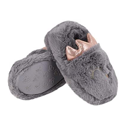 a37c55e3608 Little Kid Slipper Shoes Boys Girls Winter Warm Indoor Slip-on Slippers  Anti-Slip Sole Child Cartoon Eye Slippers Cozy Boot Slipper Anti-skid  Household ...