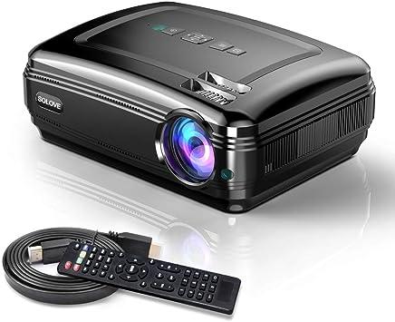 Proyectores de vídeo, SOLOVE Proyector HDMI Full HD 1080P ...