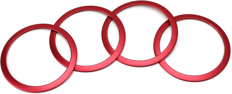 4 Aluminum Speaker Ring Cover Trims for 2012-up BMW F30 F31 3 Series 320i 328i 335i M3 F32 F33 4 Series 428i 435i, Silver iJDMTOY