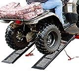 Rage Powersports ST-4811-1600-M-V2 Steel ATV Trailer Ramp (48.5'' Black, Pair)