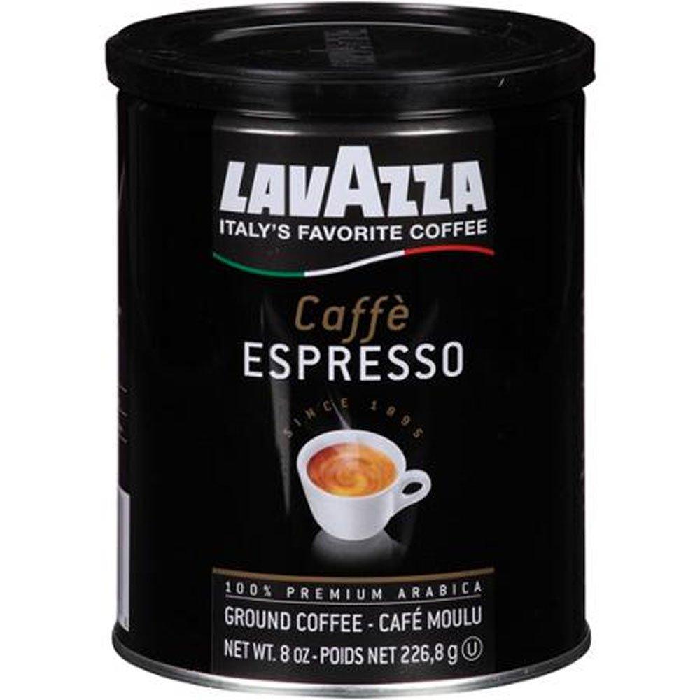Lavazza Cafe Espresso Medium Roast Ground Coffee, 8 oz, Arabica Premium Coffee Blend, Pack of Twelve (12), Best Gourmet Coffee, Specialty Roasted Beans Espressos by Lavazza