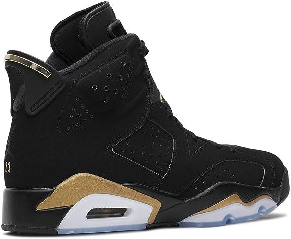 jordan retro 6 black and gold
