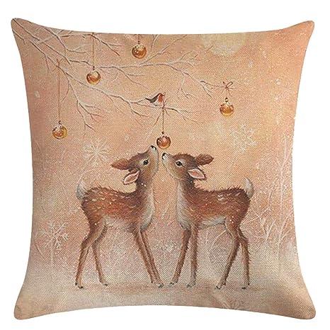 Amazon.com: JUSTDOLIFE Funda de almohada de Navidad para ...