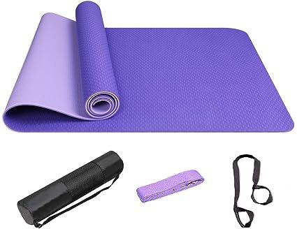 Yovanpur Colchonetas de Yoga Esterilla Yoga Antideslizante ...