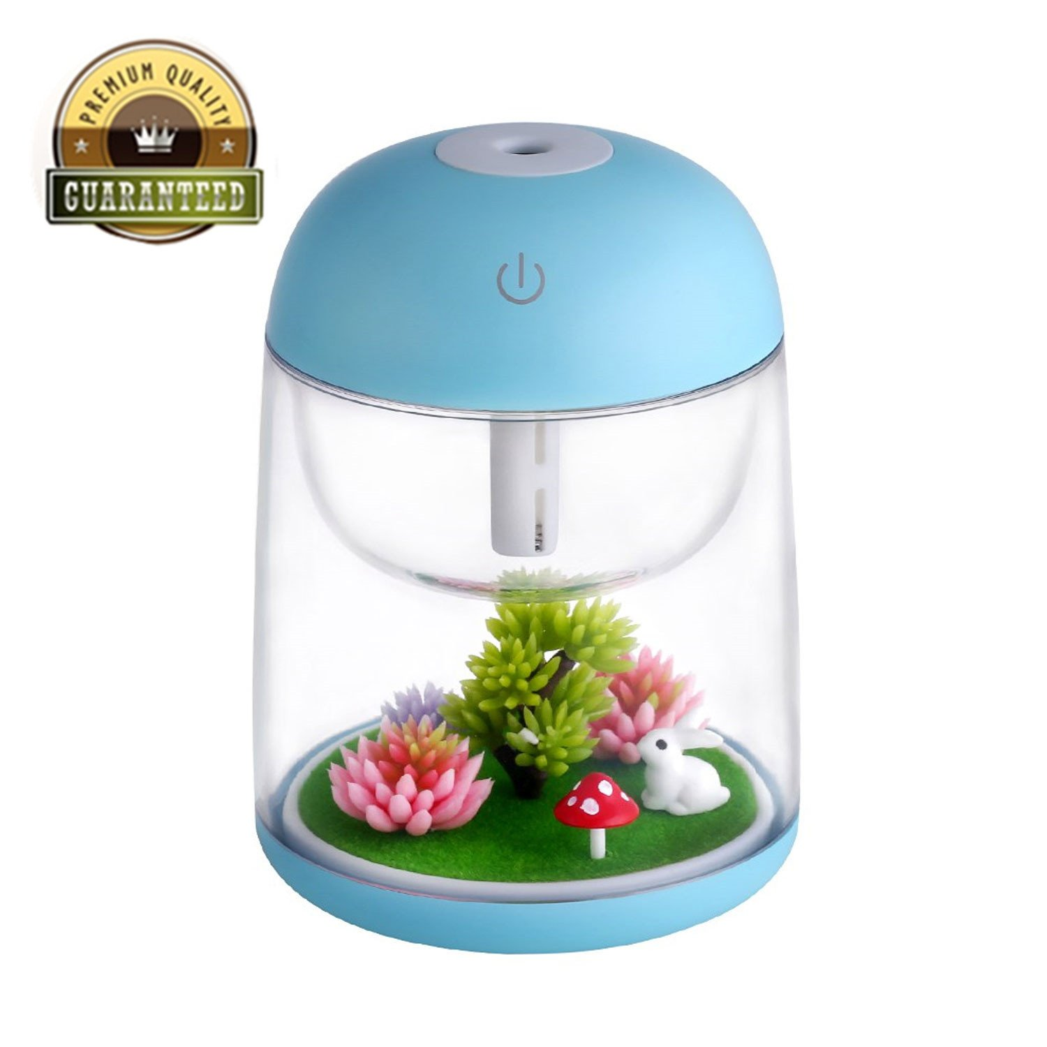 ZJX1111 Air Humidifier Micro LED Landscape, Adjustable Mist Mode, Waterless Auto Shut-Off Various Places Like Bedroom,Office,Car (Blue)