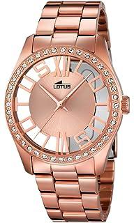98b1aa76ed60 Lotus – Reloj de Cuarzo para Mujer con Oro Rosa Esfera analógica y Acero  Inoxidable bañado