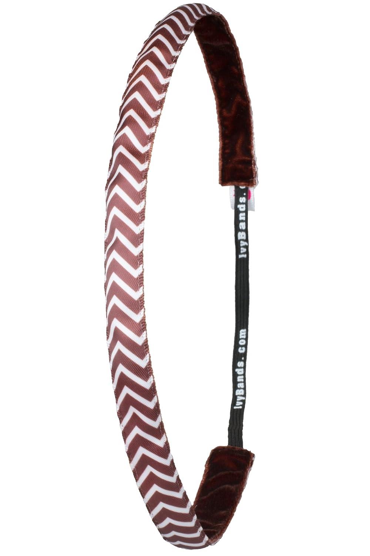 Ivybands/® One size IVY515 Das Anti-Rutsch Haarband Coffee Brown White Dots