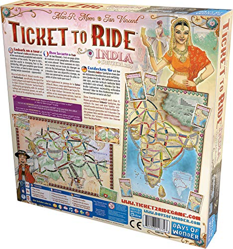 Ticket To Ride India Map.Ticket To Ride India Map Collection Two Available In Kuwait Board