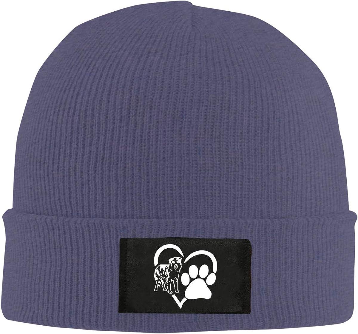 Love Australian Shepherd Men /& Womens Knitted Hat Fashion Warm Skull Cap