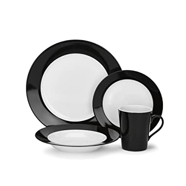 Cuisinart CDP01-S4WBK Reynes Collection 16-Piece Porcelain Dinnerware Set