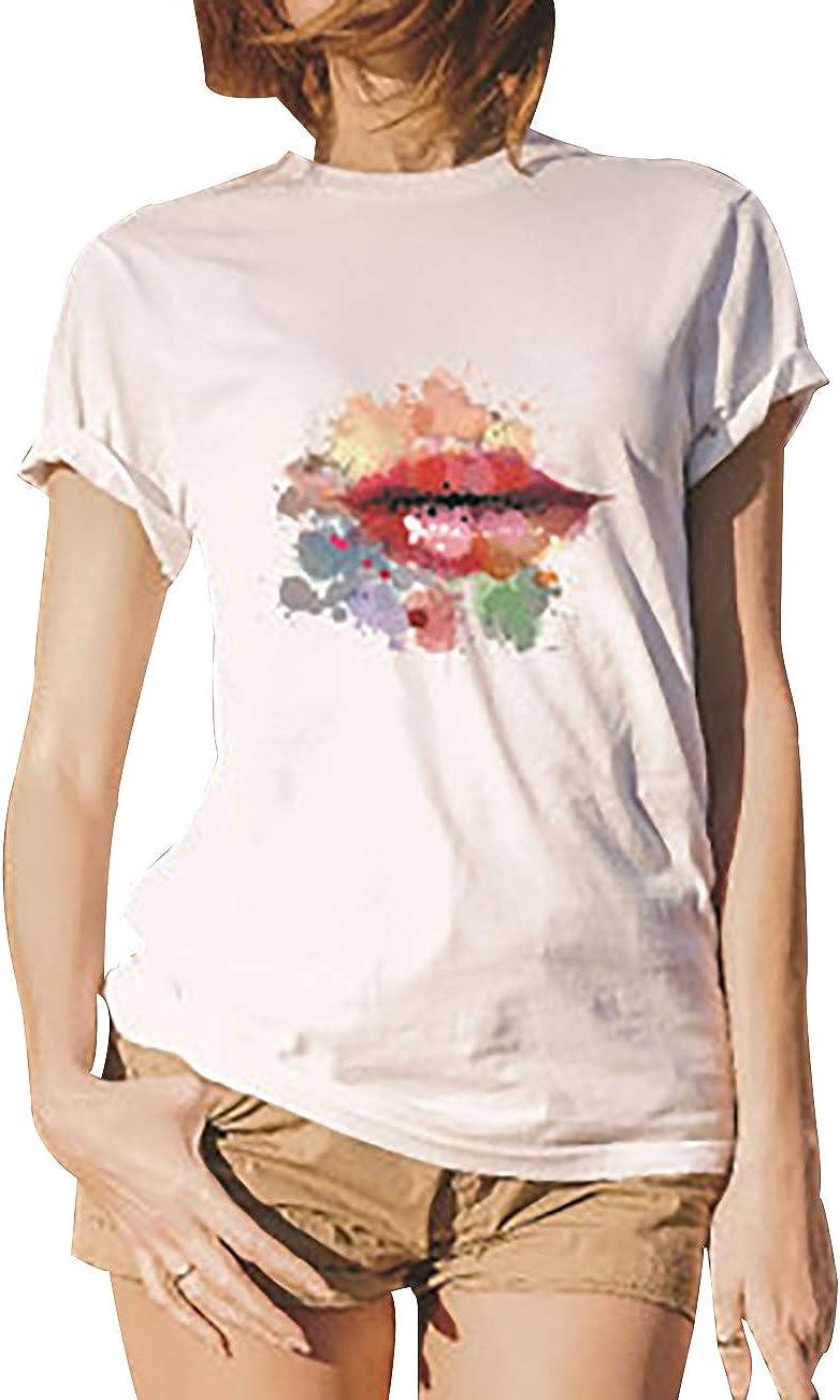 Camisetas Graciosas Mujer Camiseta Divertida Mujer Oversize Talla Grande Camisas Estampadas Mujer Camisetas Divertidas Anchas Largas de Mujer Personalizada Tops Camisa Blusas Casual Suelta Fiesta: Amazon.es: Ropa y accesorios