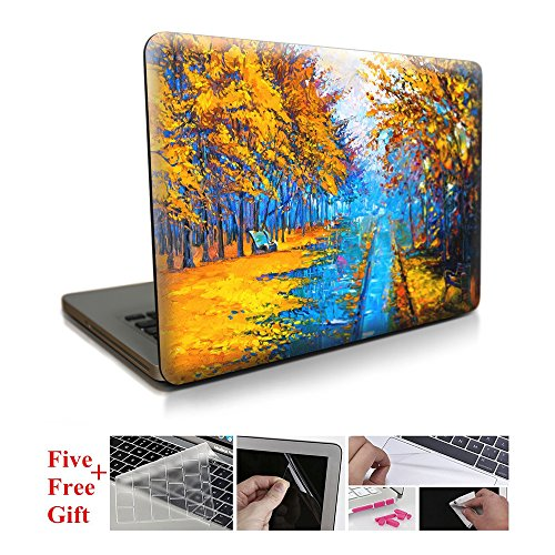 - Hard Shell Cover Plastic Protective Case Cover with Keyboard Cover 5 Free Gift For Apple Laptop Macbook 12''(A1534)