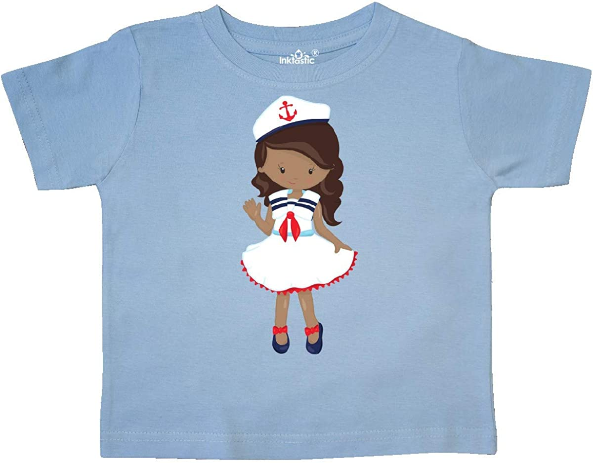 Skipper Toddler T-Shirt inktastic African American Girl Boat Captain