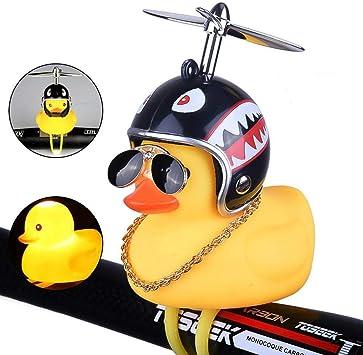 Volwco - Timbre de Bicicleta de Pato, de Goma, Color Amarillo, con ...