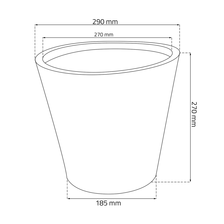 Gris Zanvic Rocka Maceta 29.3X29.3X27.7 cm