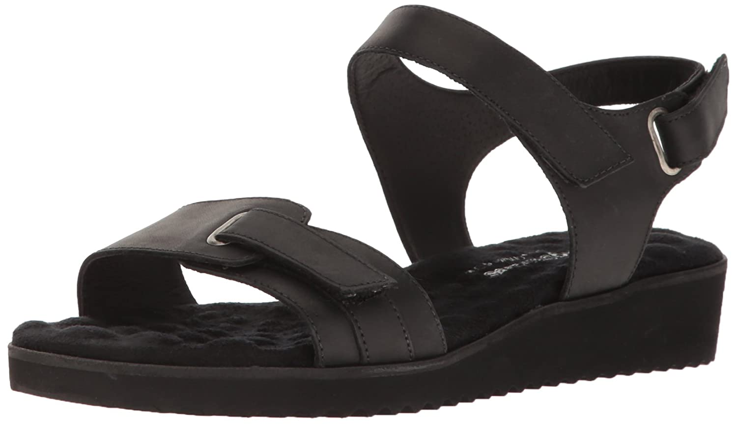 Walking Cradles Women's Halle Flat Sandal B01KB58KMI 9 B(M) US|Black