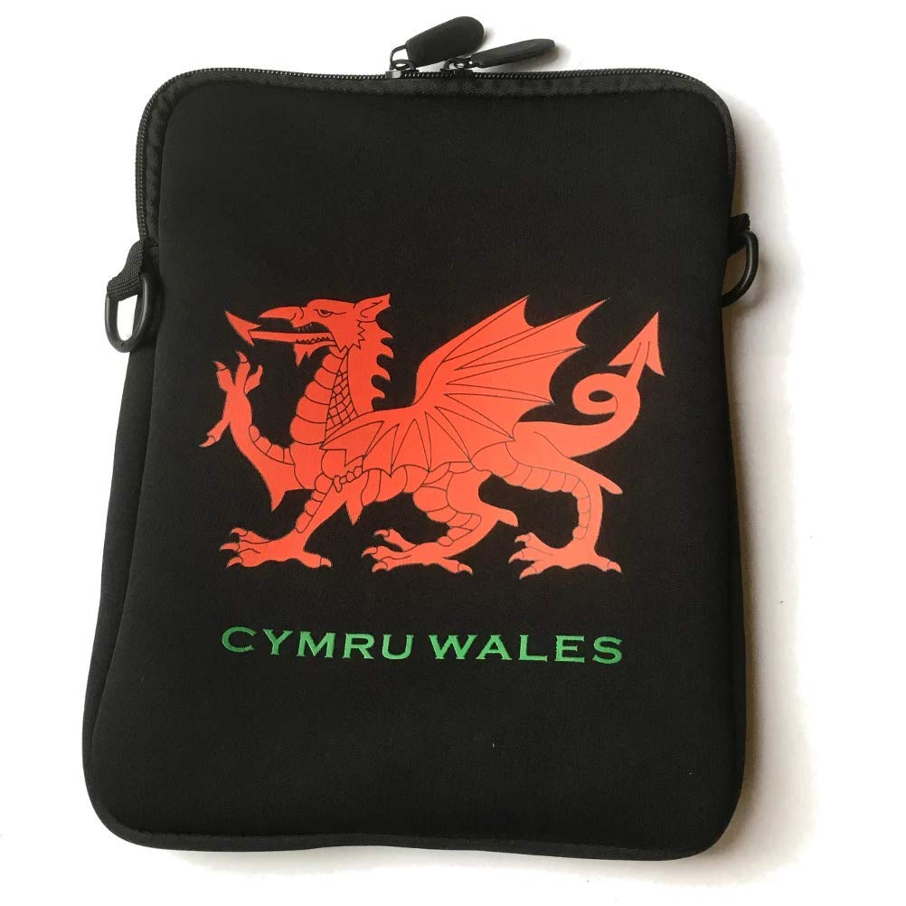 aj1515 Welsh Dragon 10inch Tablet-Sized Neoprene Neck Purse//Bag