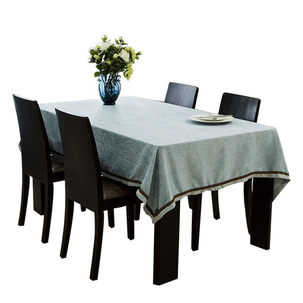 SCJ テーブルクロス - 北欧ブルーコーヒーテーブルクロス - マルチサイズオプション(サイズ:140× 200cm) 140 × 200cm  B07S91V2K8