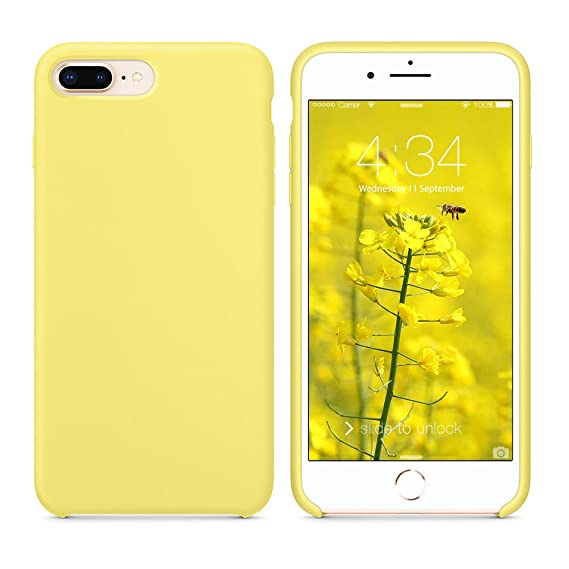 official photos c279a c9a4e SURPHY Silicone Case for iPhone 8 Plus iPhone 7 Plus Case, Slim Liquid  Silicone Soft Rubber Protective Phone Case Cover (with Microfiber Lining)  for ...