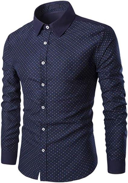 Lushi - Camisa de manga larga para hombre con estampado ...