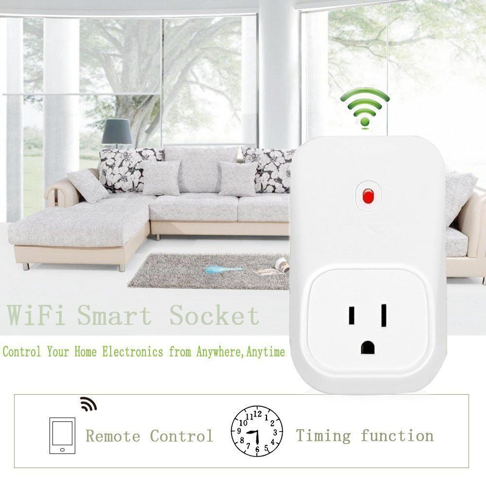 Smart Plug Mini, BeiLan No Hub Required, Wi-Fi, Control Your Devices from Anywhere, Occupies Only One Socket, Compatible with Alexa and Google Assistant WRE-02