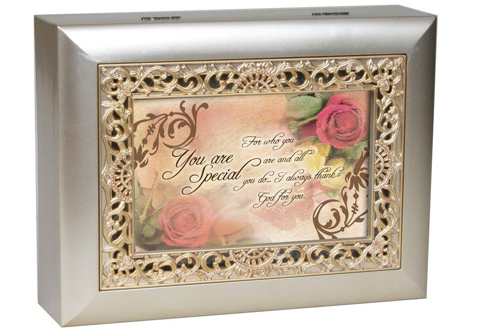 売れ筋商品 Cottage Garden Inspirational Music Box - You How Ornate Are Special - Plays How Great Thou Art With Ornate Champaign Silver Finish B0065OI6LA, 原村:b732883a --- arcego.dominiotemporario.com