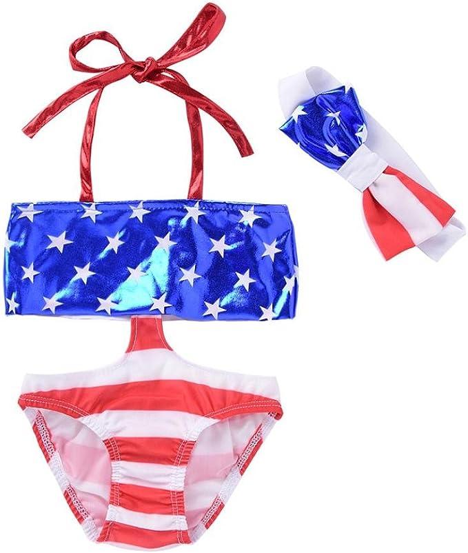 Amazon.com: winsummer niños bebé niñas American bandera de ...