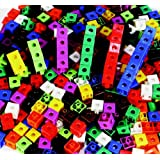 """Childcraft 264681 Linking Cubes, 0.75"""", Assorted Colors (Pack of 100)"""