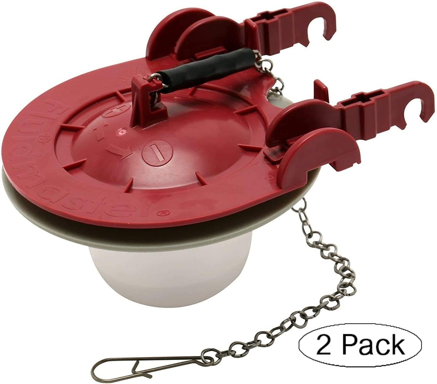 2 Fluidmaster 5403 3-Inch Universal Water Saving Long Life Toilet Flapper Adjustable Solid Frame Design