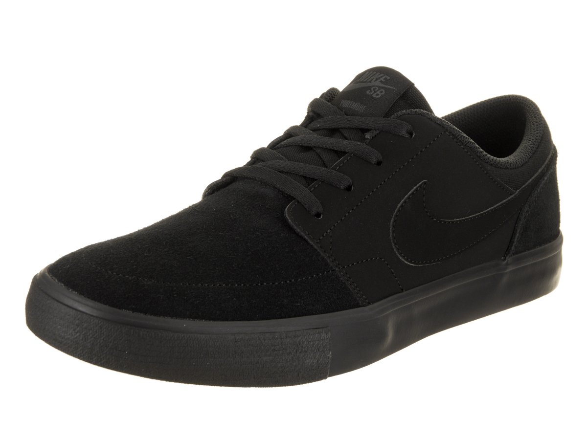 NIKE Men's Sb Portmore Ii Solar Ankle-High Canvas Skateboarding Shoe B005AC7AK6 13 D(M) US|Black / Anthracite