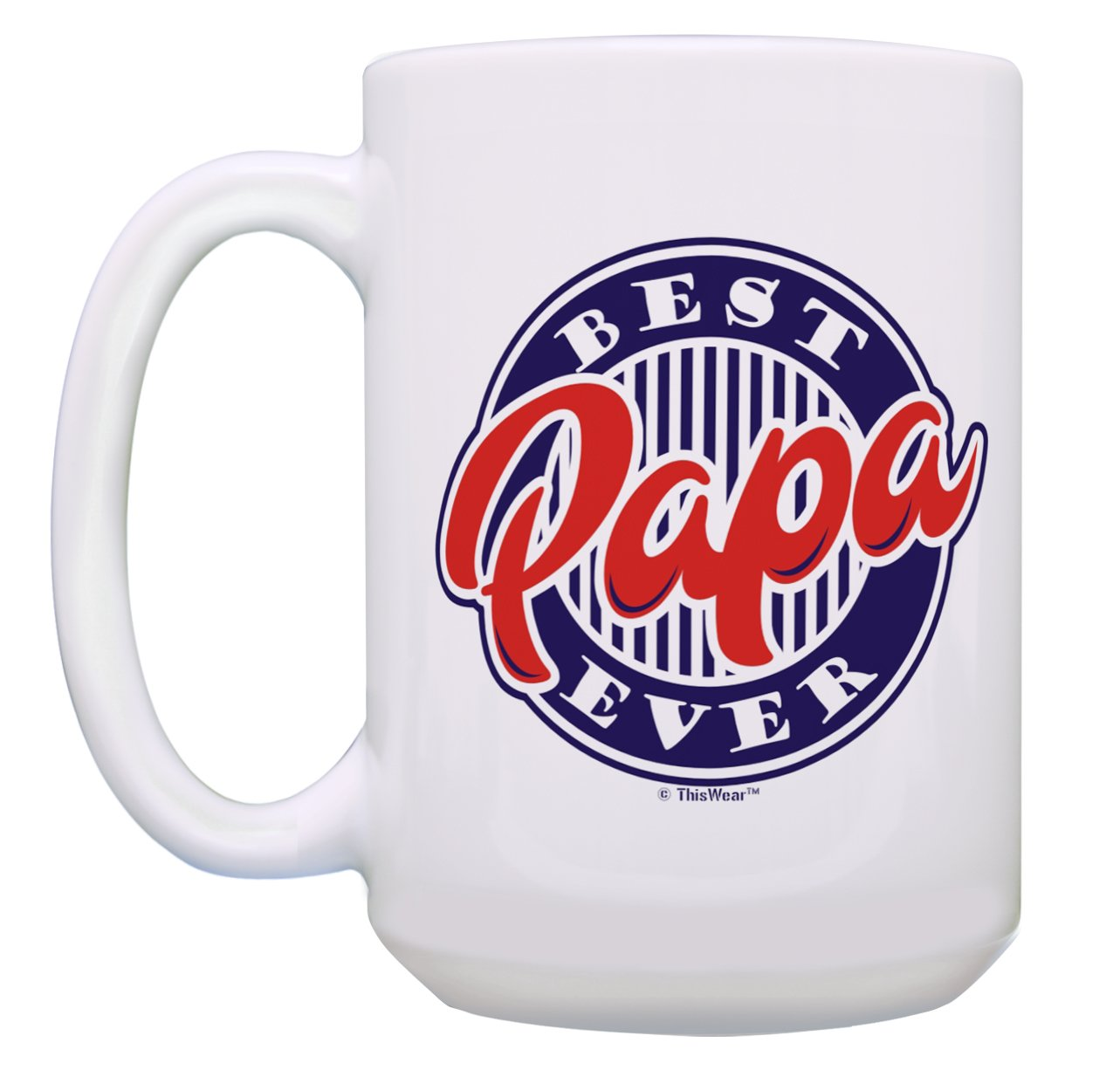 Papa Birthday Gifts Best Ever Coffee Mugs From Daughter Son Or Grandpa Grandkids 2 Pack Gift 15 Oz Tea