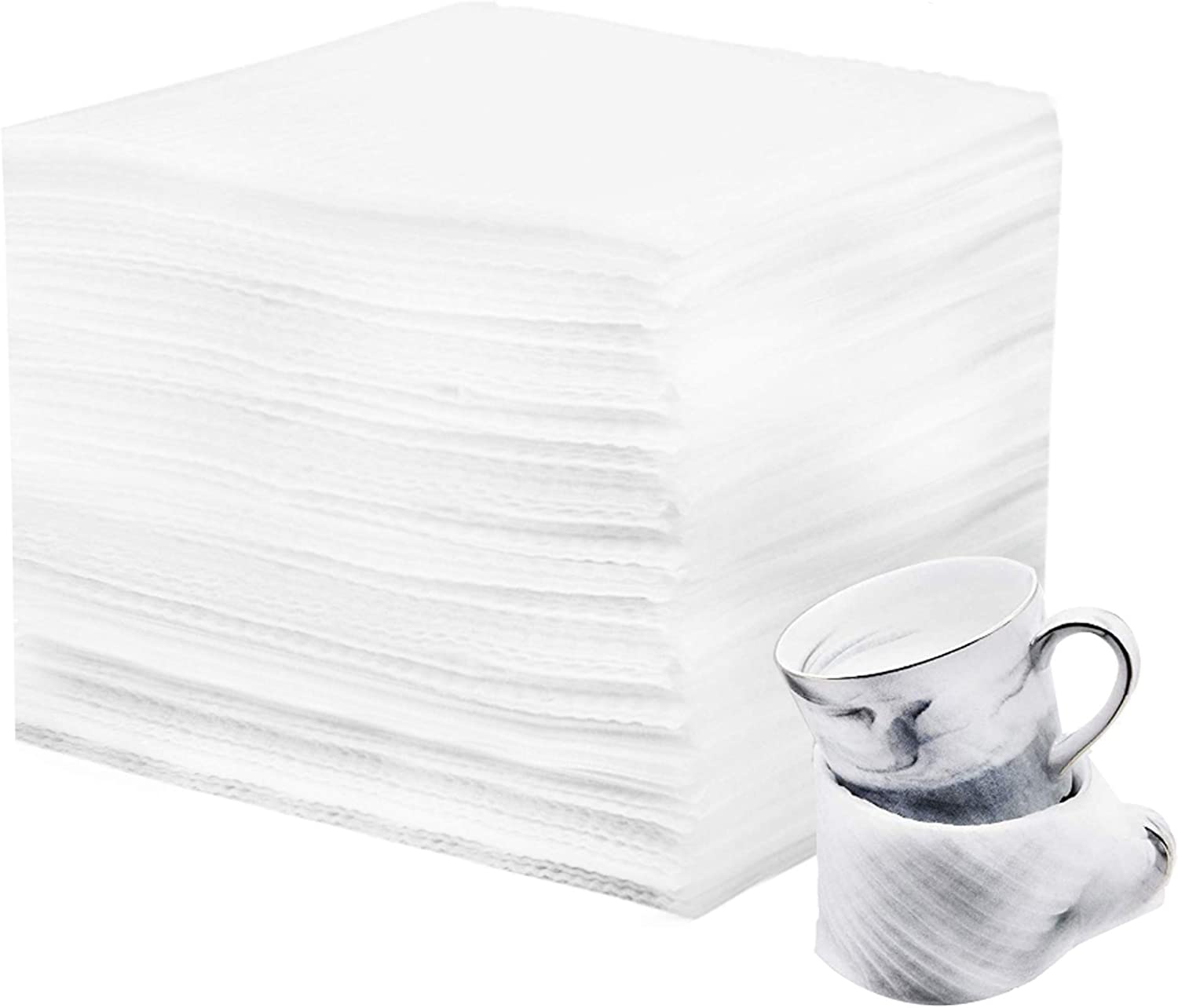 110 Count - 12 Inches x 12 Inches Cushion Foam Wrap Sheets Moving Supplies Packing Foam Packing Material for Dishes, Plates, Glasses, Cups, Furniture Legs or Edges, for all Purpose Protection, Storage