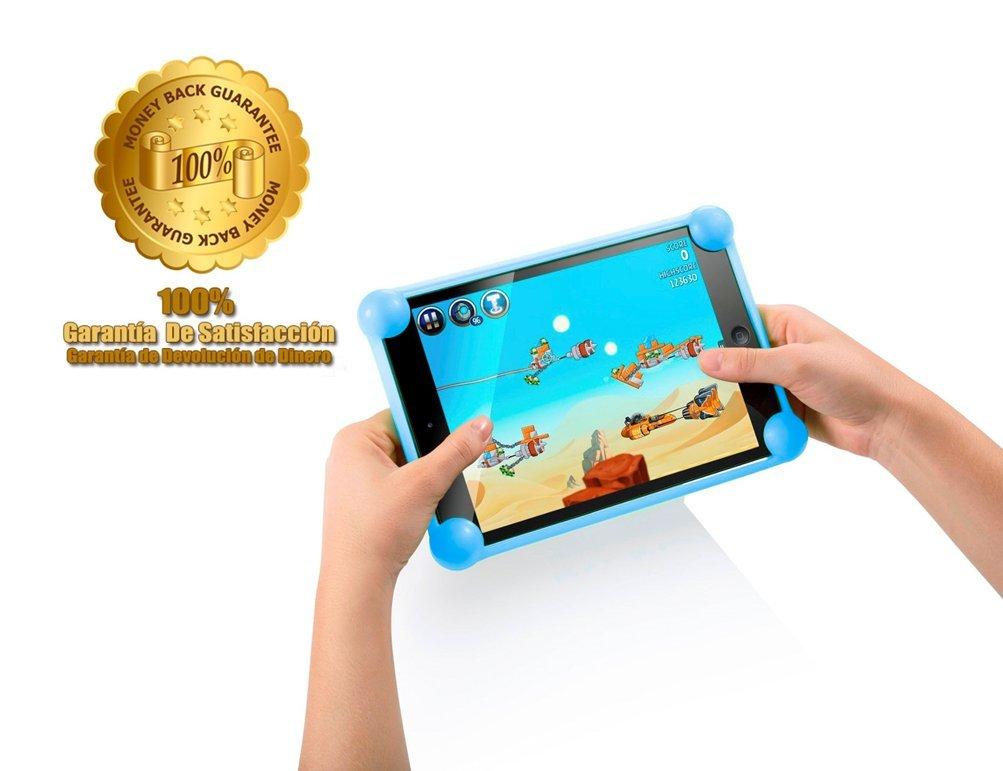 Housse tablette silicone universelle Unitab/® produit brevet/é compatible avec toutes les tailles de tablettes entre 8-14 de nimporte quelle marque housse tablet /étui tablette coque tablette bleu