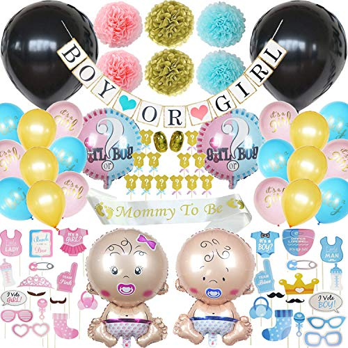 Happy Baby 92 Piece Gender Reveal Party Supplies