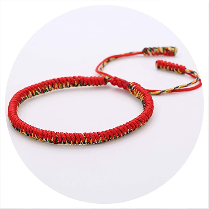 dbc48d0da0 Amazon.com  17 Colors Original Tibetan Buddhist Lucky Tibetan Bracelets    Bangles for Women Men Handmade Knots  Clothing