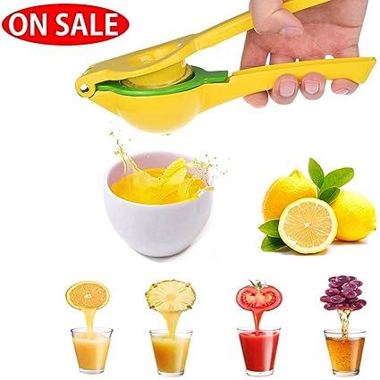 Manual amarillo limón exprimidor prensa, Premium aluminio cítricos prensatelas para maquina de coser Presser exprimidor