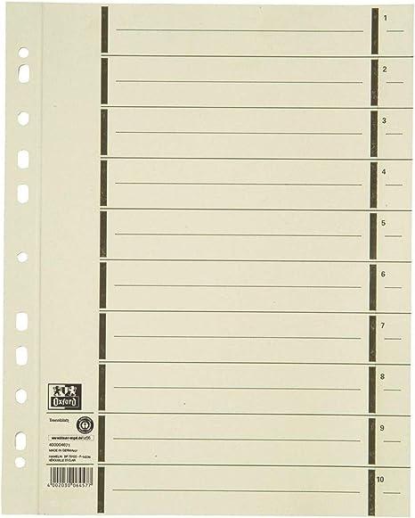 Esselte Karton Trennblätter DIN A4 Überbreite chamois 100 Trennblätter