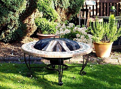 Ibiza – Brasero heipei – Estructura de acero negro 87 x 40 x 87 cm, hoguera, Jardín Fuego, parrilla, BBQ de fiesta, jardín, Loggia, balcón, terraza: Amazon.es: Jardín
