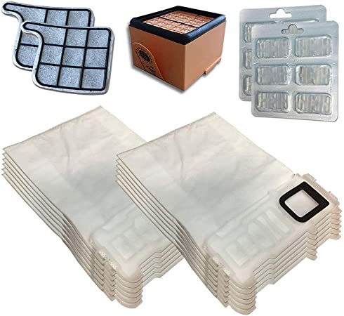 Kit de 12 Bolsas (Microfibra) + 12 ambientadores + Filtro HEPA/EPA ...