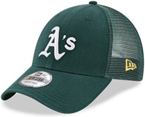New Era Oakland Athletics A/'s Fitted Hat Dark Green//Yellow//Grey Bottom mlb