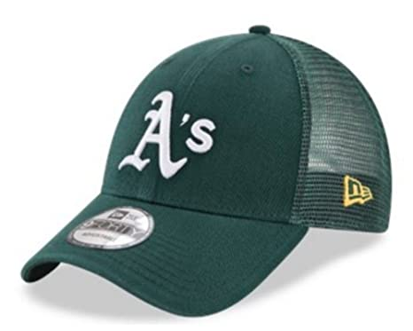 Amazon.com  New Era 9Forty Hat MLB Oakland Athletics Green Trucker ... 0e12dc6c420