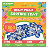 Puzzle Sorting Tray for Jigsaw Storage,8 Piece Puzzle Holder, Holds Up to 1500 Puzzle Pieces