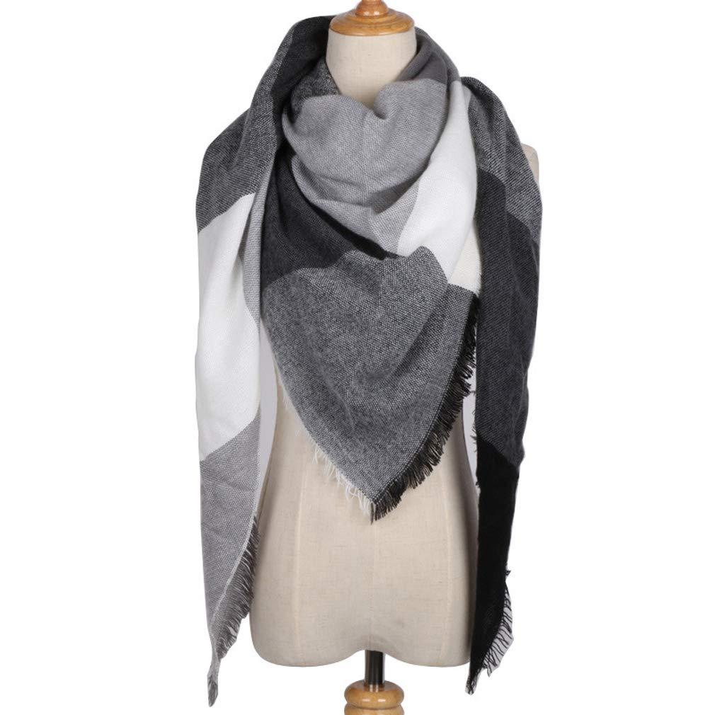 HongHu mujeres manta de tela escocesa bufanda c/álido tart/án a cuadros chal