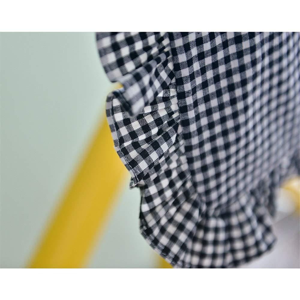 Canvas Shoulder Bag Multipurpose Lattice Lace Large-Capacity Canvas Tote Shoulder Bag Handbag Black and White