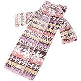 東京西川 着る毛布 あったか 吸湿発熱 帯電防止 ルミディ ノルディック柄 ピンク