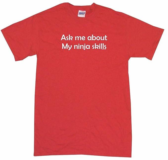 Amazon.com: Ask Me About My Ninja Skills Kids Tee Shirt ...