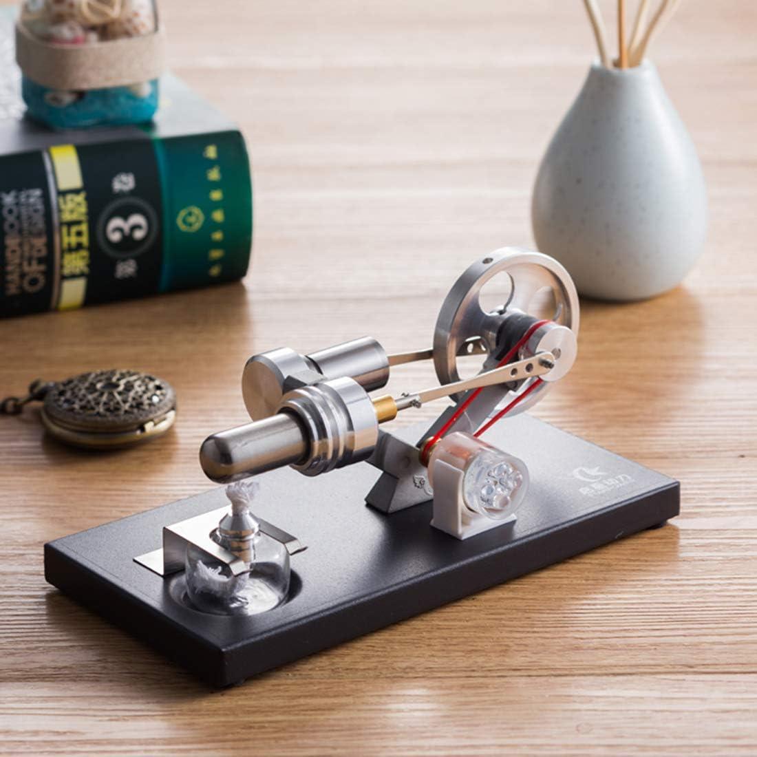 Mini Hot Creative Air Stirling Motor Motormodell Lernspielzeug UFO Spin DIY